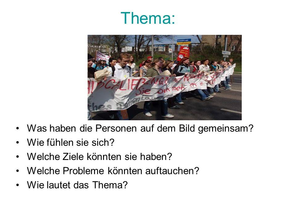 Aufgabenstellung Welche Möglichkeiten haben Schüler und Schülerinnen in Deutschland, auf Probleme an ihrer Schule aufmerksam zu machen.