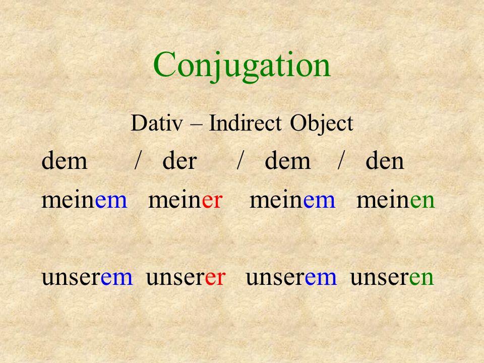 Conjugation N - e - e A n e s e D m r m n