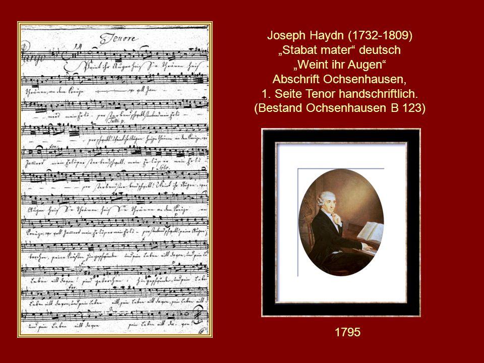 Haydens Original – Handschrift, British Museum