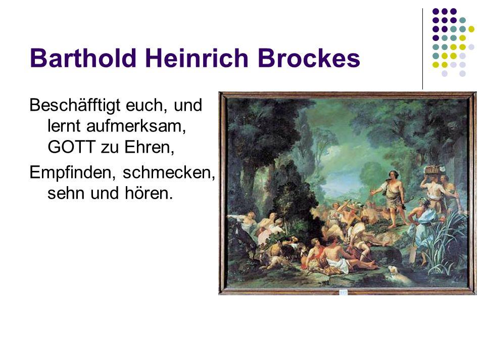 Friedrich Gottlieb Klopstock (1724-1803) Erneuerer der dt.
