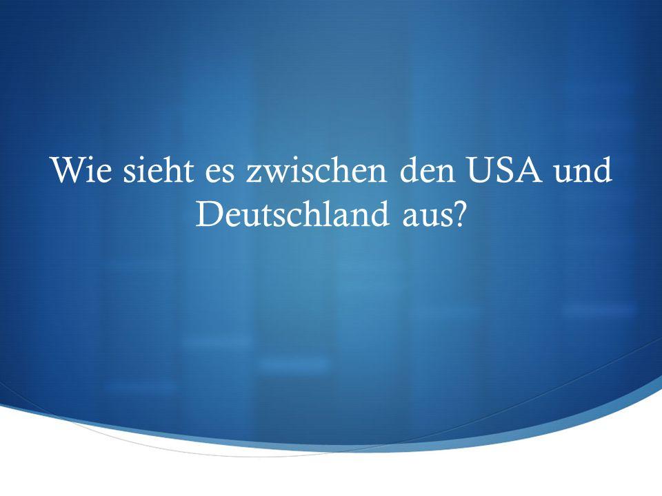 Wie sieht es zwischen den USA und Deutschland aus?