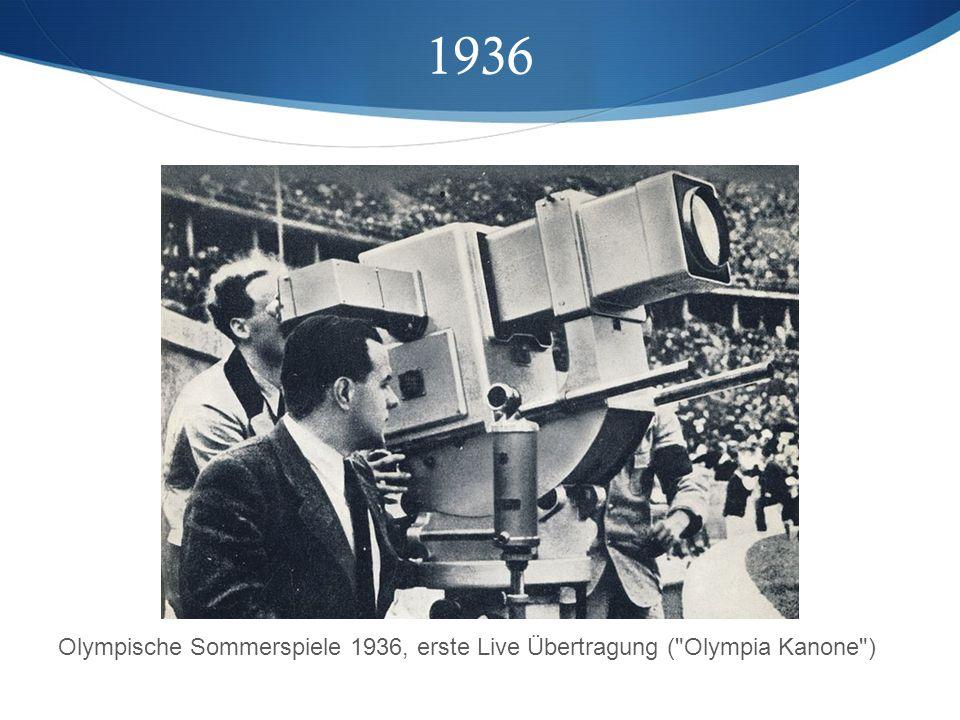 1936 Olympische Sommerspiele 1936, erste Live Übertragung ( Olympia Kanone )