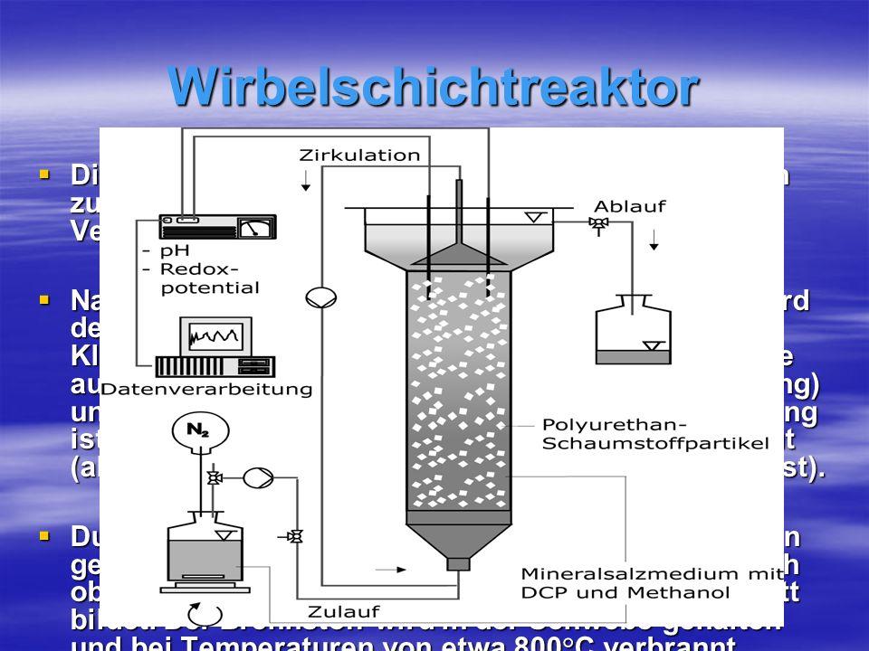 Wirbelschichtreaktor Die Wirbelschichtfeuerung ist das übliche Verfahren zur Klärschlammverbrennung und ist auch eine Verbrennungsanlage.