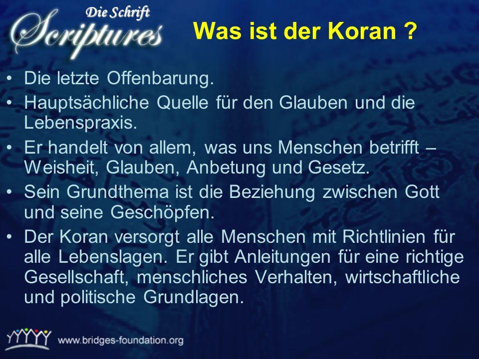 Ü bertragen durch Gabriel 100% Korrekt Der Koran ist das einzige Buch das in der Orginal Sprache verblieben ist : Arabisch