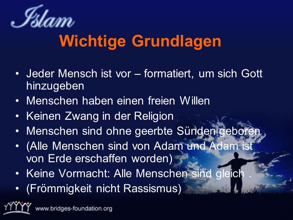 Linguistische Bedeutung: Hingabe – Reinheit – Frieden Islamische Bedeutung: Wenn eine Person sich vollkommen dem Willen Gottes hingibt und ihn rein ve