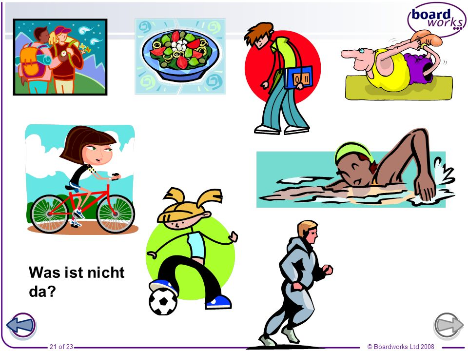© Boardworks Ltd 200820 of 23 Man kann wandern gehen? A.A. B. C.