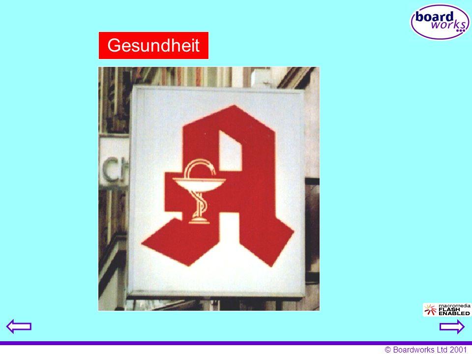 © Boardworks Ltd 2001 Gesundheit
