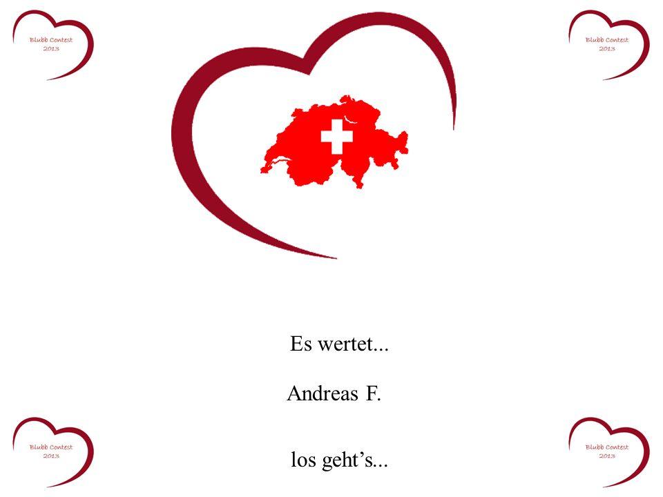 Es wertet... Andreas F. los gehts...