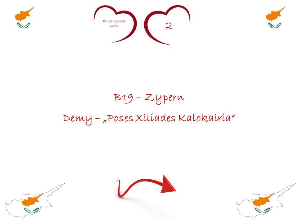 2 B19 – Zypern Demy – Poses Xiliades Kalokairia