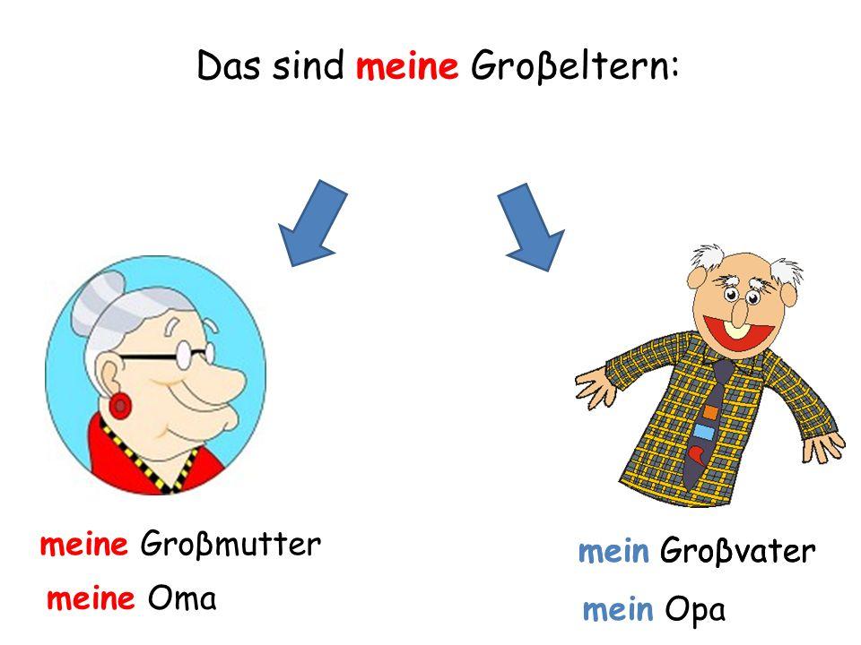meine Groβmutter mein Groβvater Das sind meine Groβeltern: meine Oma mein Groβvater mein Opa