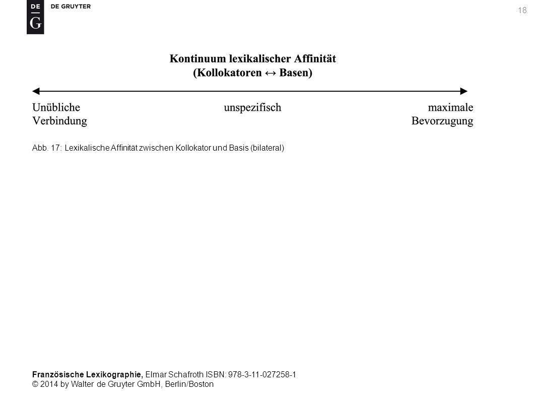Französische Lexikographie, Elmar Schafroth ISBN: 978-3-11-027258-1 © 2014 by Walter de Gruyter GmbH, Berlin/Boston 18 Abb.