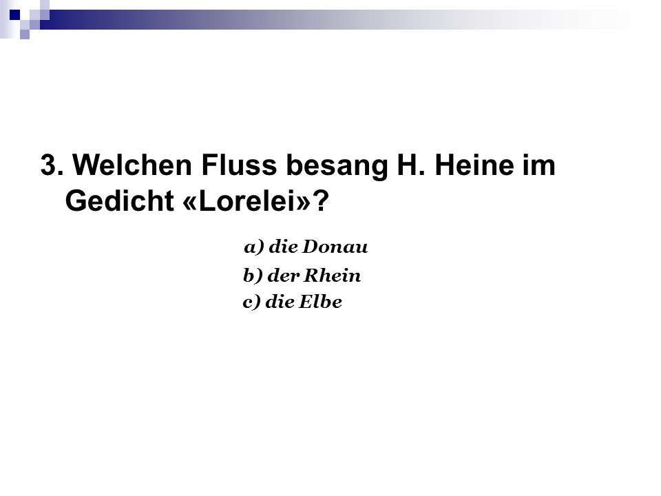 а) der Rhein