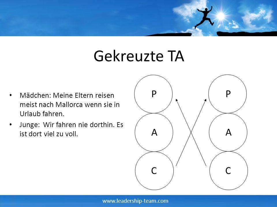 www.leadership-team.com Gekreuzte TA Mädchen: Meine Eltern reisen meist nach Mallorca wenn sie in Urlaub fahren.
