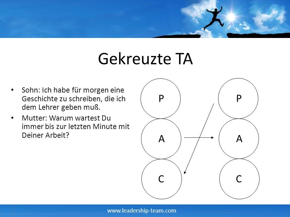 www.leadership-team.com Gekreuzte TA Sohn: Ich habe für morgen eine Geschichte zu schreiben, die ich dem Lehrer geben muß.