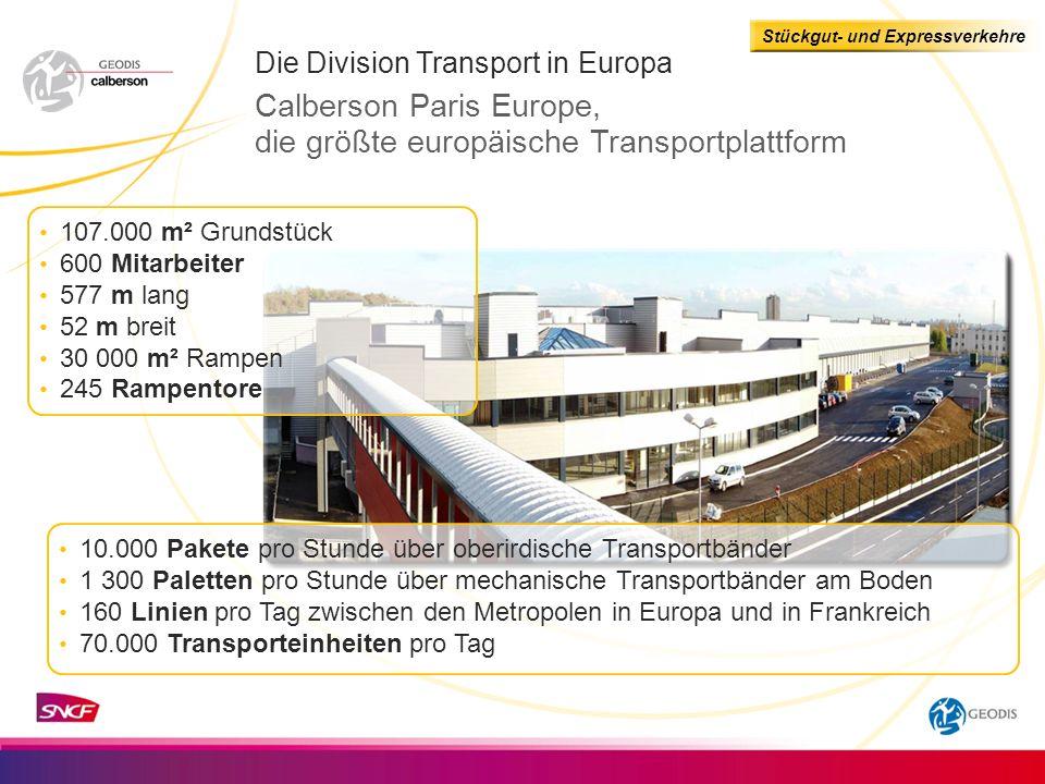 Stückgut- und Expressverkehre Niederlassungen Die Division Transport in Europa Vereinigtes Königreich Mitarbeiter Zertifizierung 7 288 Dover Newport ISO 9001
