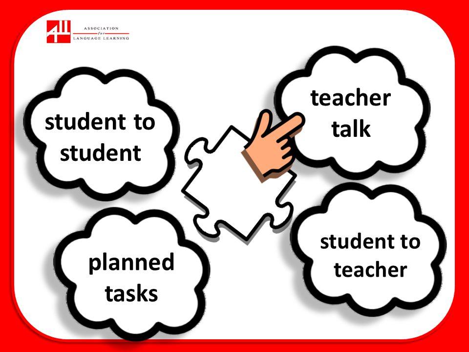 1 Teacher talk – 5Cs Consistent Clear / concise Communicative Checks understanding Creative