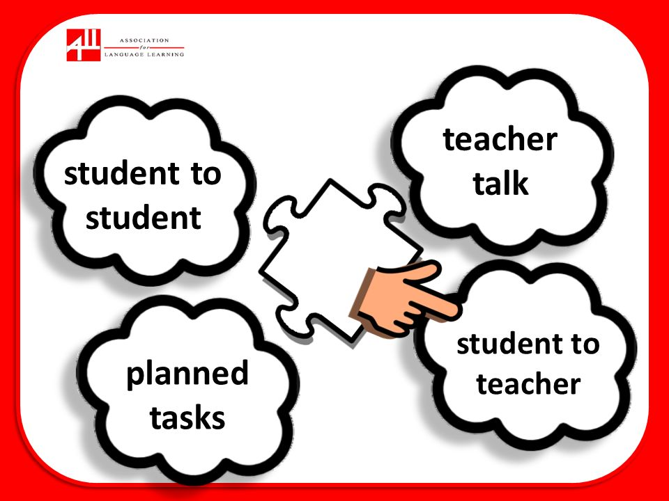 teacher talk planned tasks student to student student to teacher
