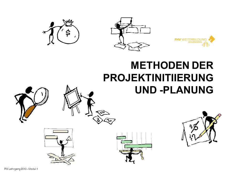 METHODEN DER PROJEKTINITIIERUNG UND -PLANUNG PM Lehrgang 2010 - Modul 1