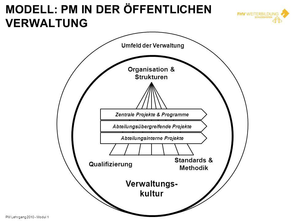 EINFACHE PM-LOGIK PM Lehrgang 2010 - Modul 1 IST-Situation: Anforderungen Probleme Chancen...