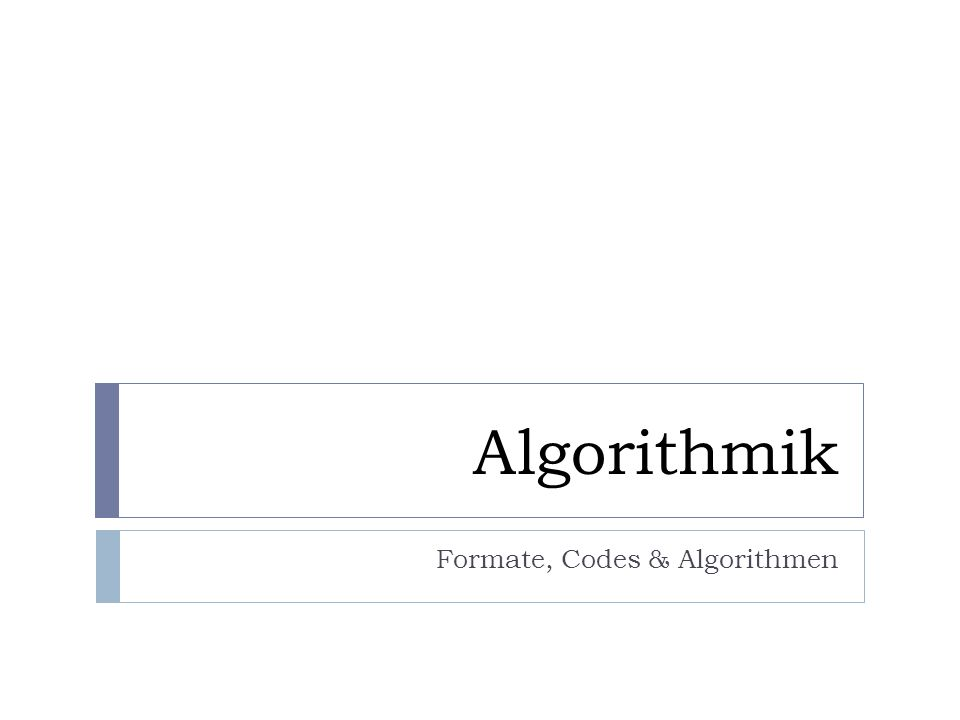 Teile & Herrsche (divide & conquer) Falls ein Problem für eine direkte Lösung zu umfangreich ist, dann: teile das Problem in mindestens zwei, ungefähr gleich grosse Teilprobleme (divide).