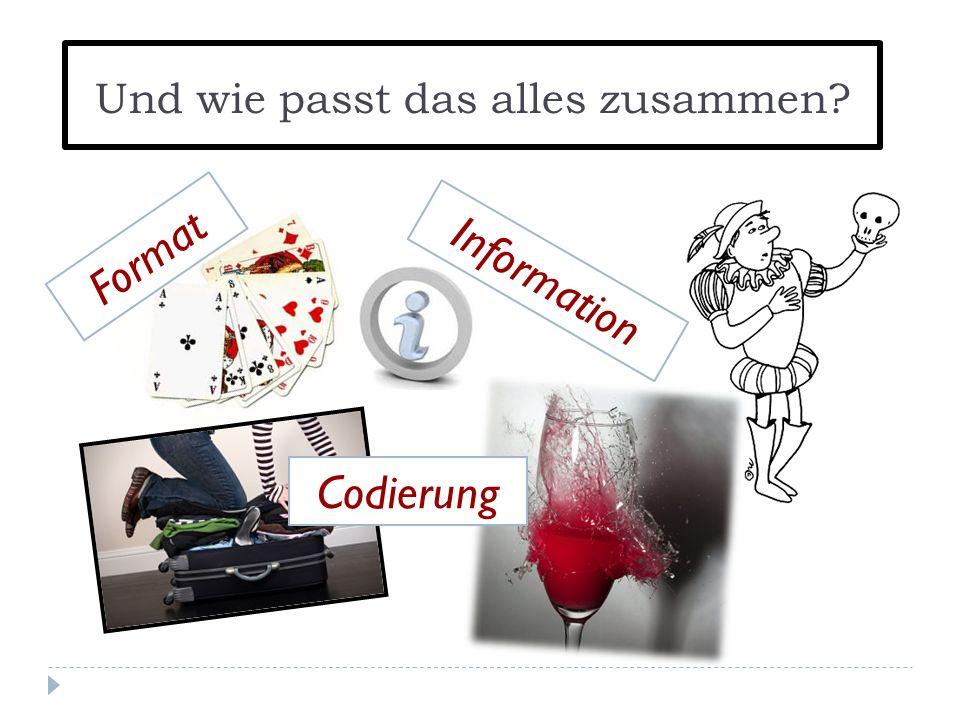 Und wie passt das alles zusammen? Information Codierung Format