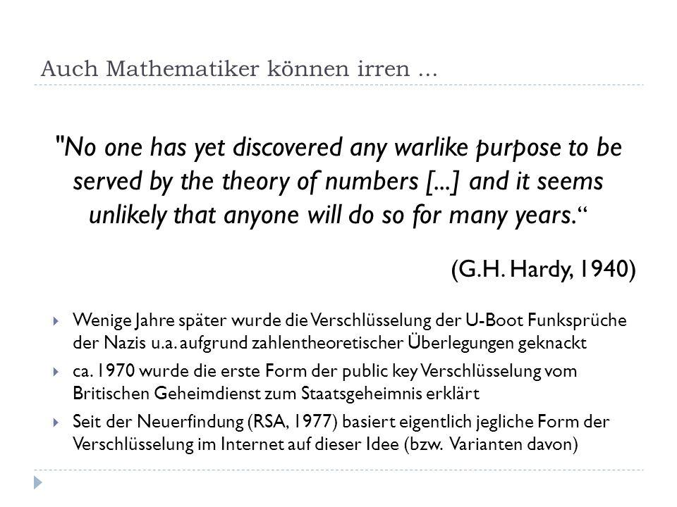 Auch Mathematiker können irren...