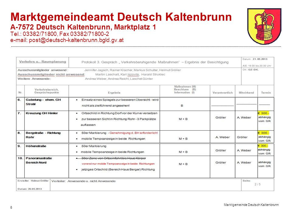 Marktgemeinde Deutsch Kaltenbrunn 7 Marktgemeindeamt Deutsch Kaltenbrunn A-7572 Deutsch Kaltenbrunn, Marktplatz 1 Tel.: 03382/71800, Fax 03382/71800-2 e-mail: post@deutsch-kaltenbrunn.bgld.gv.at