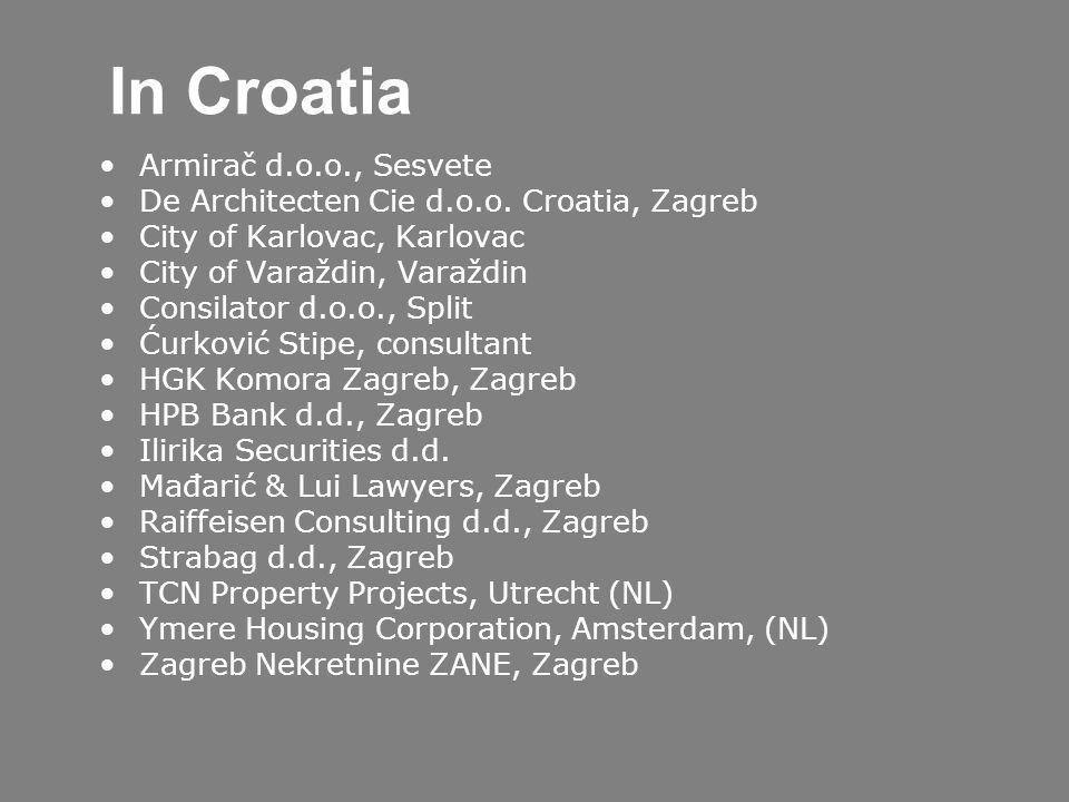 In Croatia Armirač d.o.o., Sesvete De Architecten Cie d.o.o.