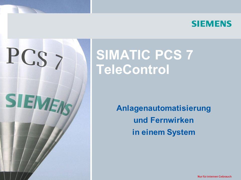 Nur für internen Gebrauch SIMATIC PCS 7 TeleControl Anlagenautomatisierung und Fernwirken in einem System