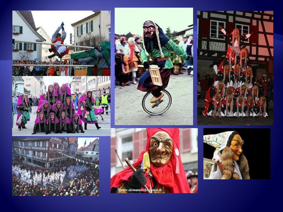 Vier verschieden Kostüme Der Faselhannes ist in ganz Süddeutschland bekannt