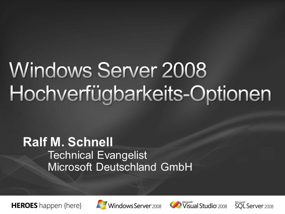 Beta Wolfpack Windows NT 4.0 Microsoft Cluster Service (MSCS) Windows 2000 Server / Windows Server 2003 Server Clustering Windows Server 2008 Failover Clustering (WSFC)
