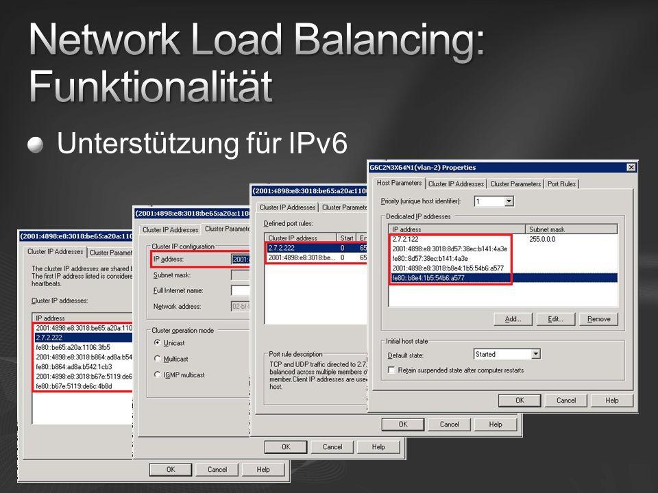 Unterstützung für IPv6