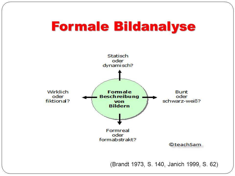 Formale Bildanalyse (Brandt 1973, S. 140, Janich 1999, S. 62)