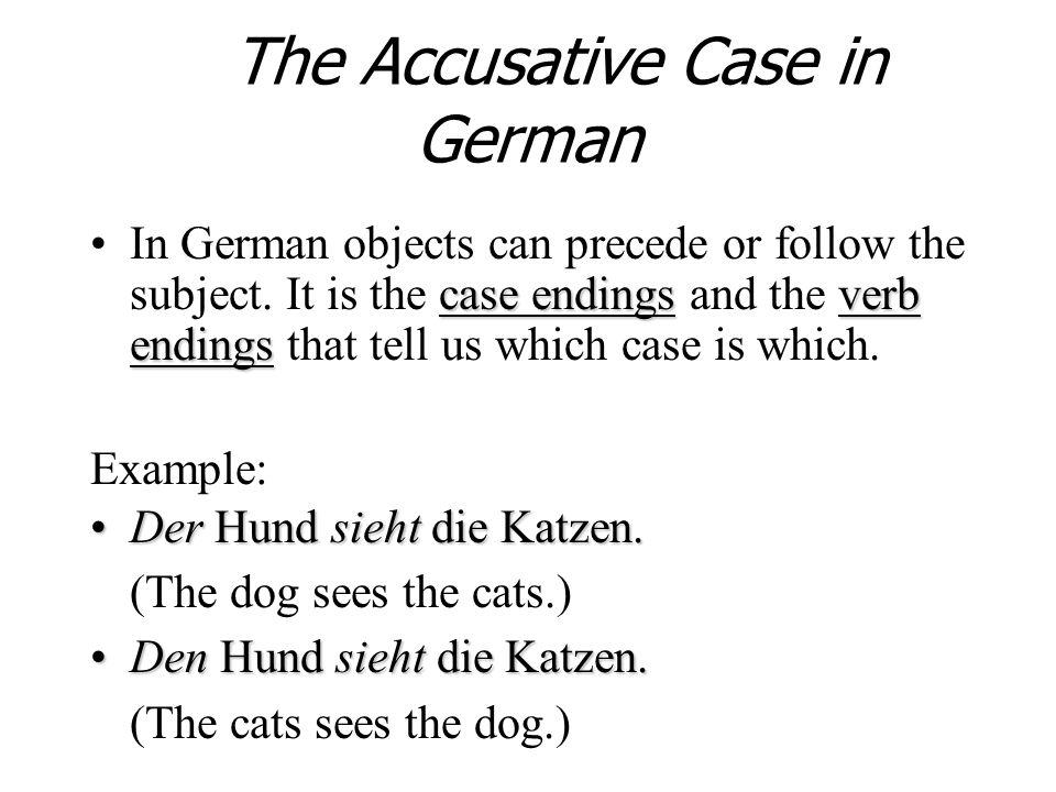 Der Mann hat den Stuhl. Masculine noun Stuhl is the direct object, so it is in the accusative case.