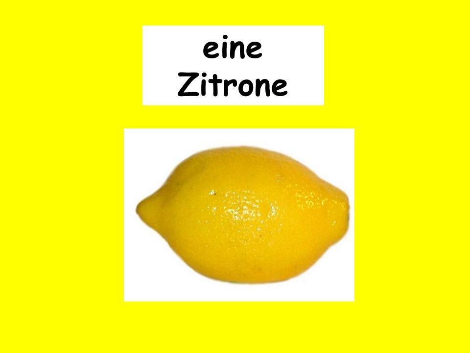 eine Zitrone