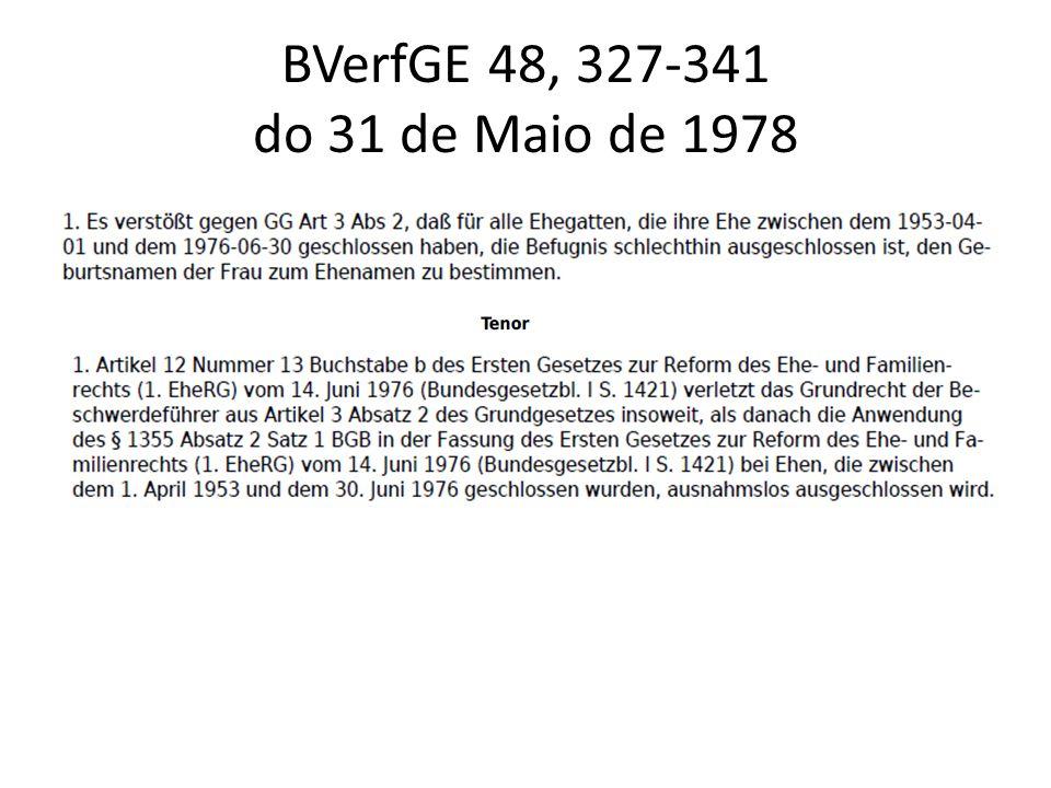 BVerfGE 48, 327-341 do 31 de Maio de 1978