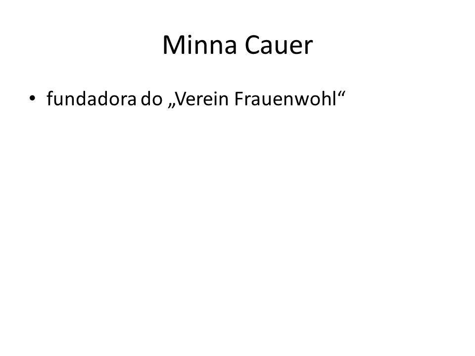 Minna Cauer fundadora do Verein Frauenwohl