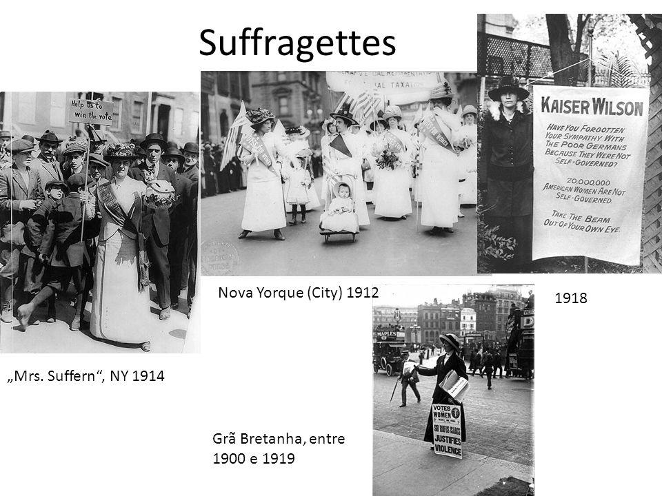 Suffragettes Mrs. Suffern, NY 1914 1918 Nova Yorque (City) 1912 Grã Bretanha, entre 1900 e 1919