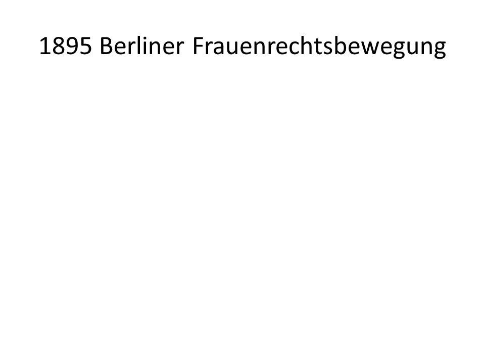 1895 Berliner Frauenrechtsbewegung