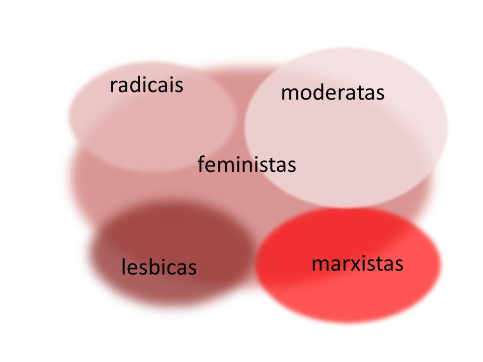 feministas radicais moderatas lesbicas marxistas