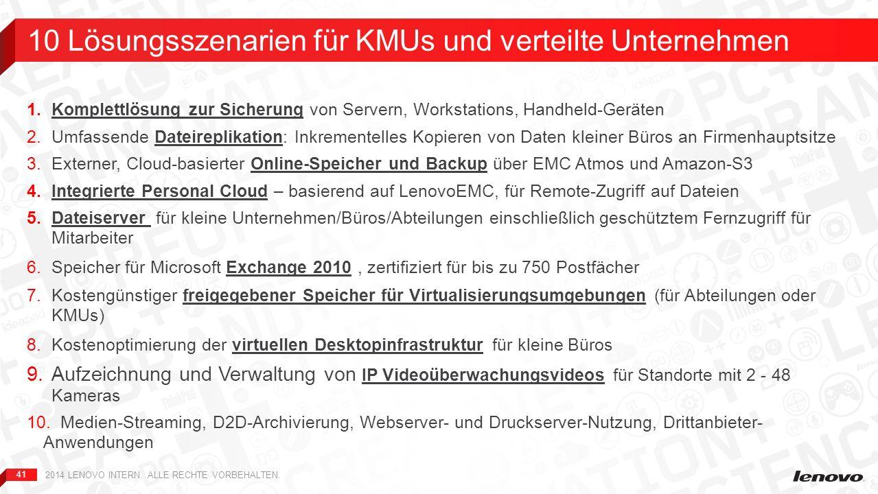 41 1.Komplettlösung zur Sicherung von Servern, Workstations, Handheld-Geräten 2.Umfassende Dateireplikation: Inkrementelles Kopieren von Daten kleiner