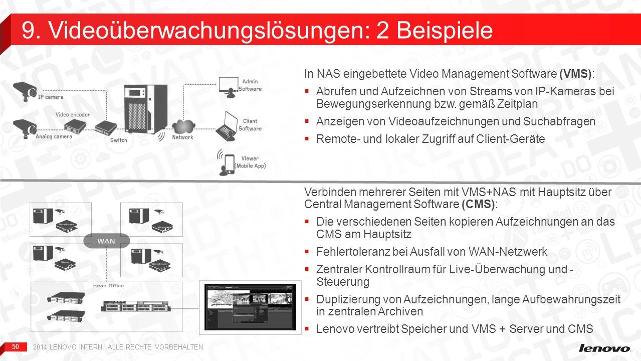 50 In NAS eingebettete Video Management Software (VMS): Abrufen und Aufzeichnen von Streams von IP-Kameras bei Bewegungserkennung bzw. gemäß Zeitplan