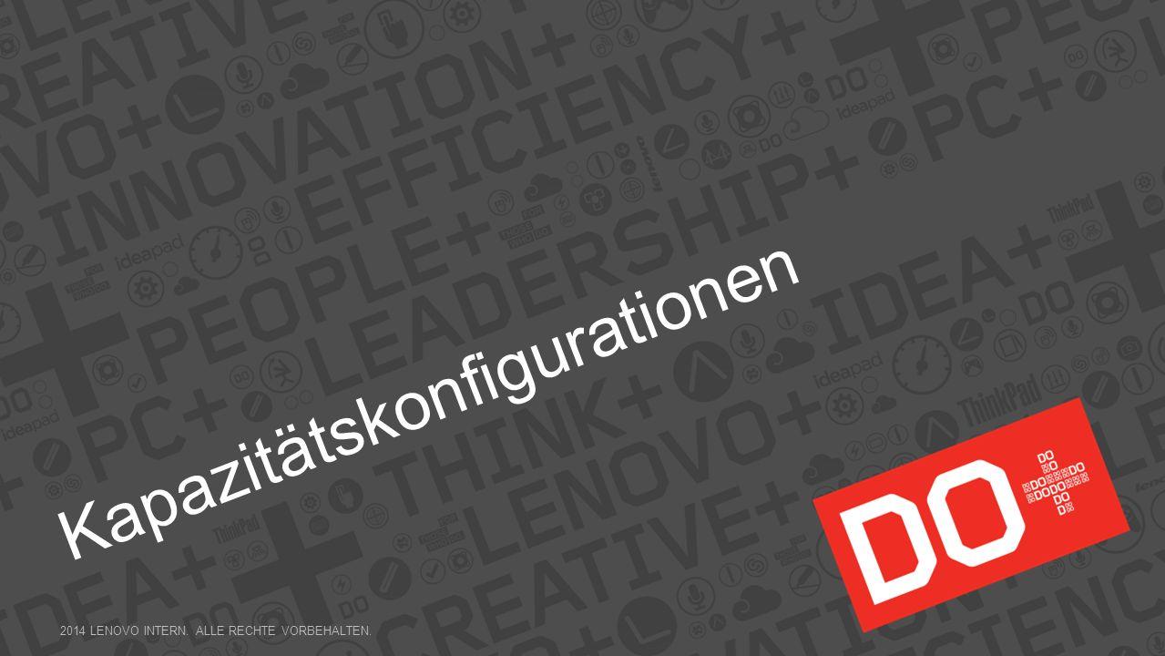 Kapazitätskonfigurationen 2014 LENOVO INTERN. ALLE RECHTE VORBEHALTEN.