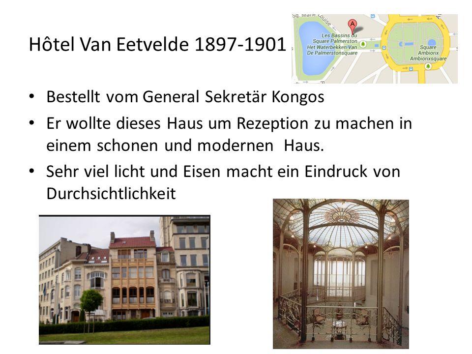 Maison et l atelier de Horta 1898-1901 Für die Professionale und Familiare Bedürfnisse von Horta selbst gebaut Am beeindruckten ist die Große Glass decke über die Treppe Heute Horta Museum