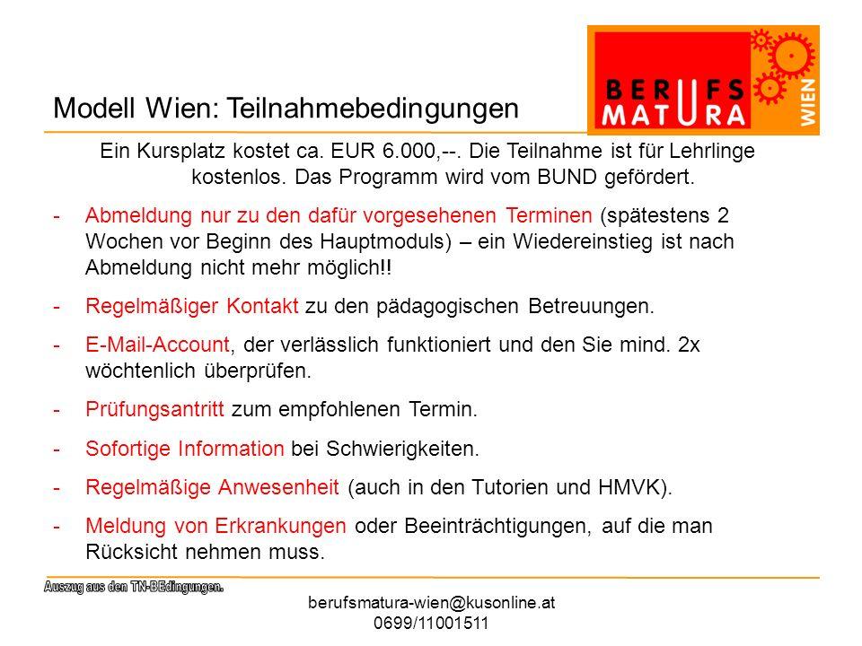 berufsmatura-wien@kusonline.at 0699/11001511 Informations-, Koordinations- und Beratungsstelle BOL Brigitte Eberhard Mag.