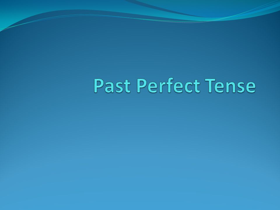 Formation You use the past tense form of haben or sein Add the past participle of the verb at the end of the sentence.