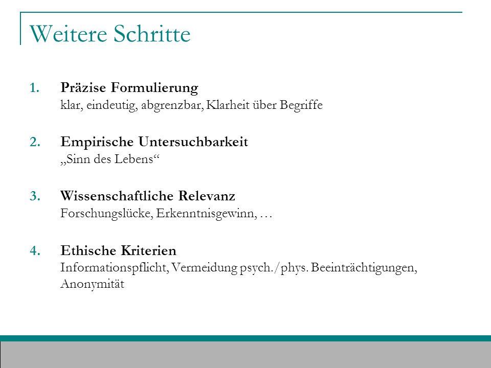 Quellenverweis & Literaturtipp: Bortz, J., Döring, N.