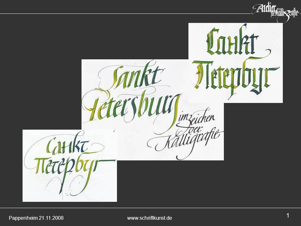 Pappenheim 21.11.2008www.schriftkunst.de 1