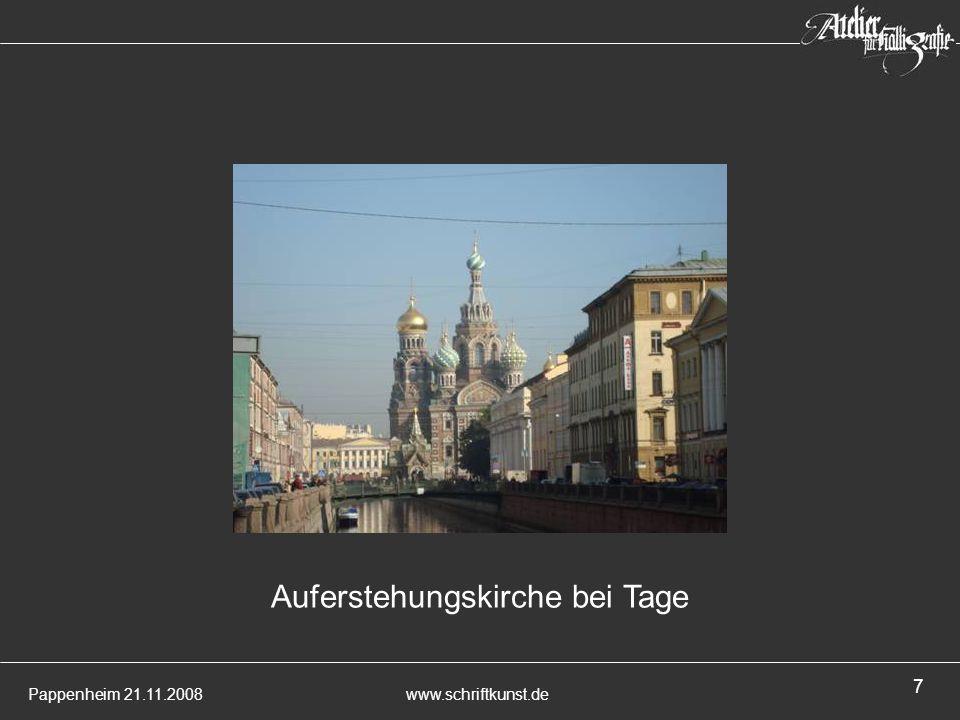 Pappenheim 21.11.2008www.schriftkunst.de 7 Auferstehungskirche bei Tage