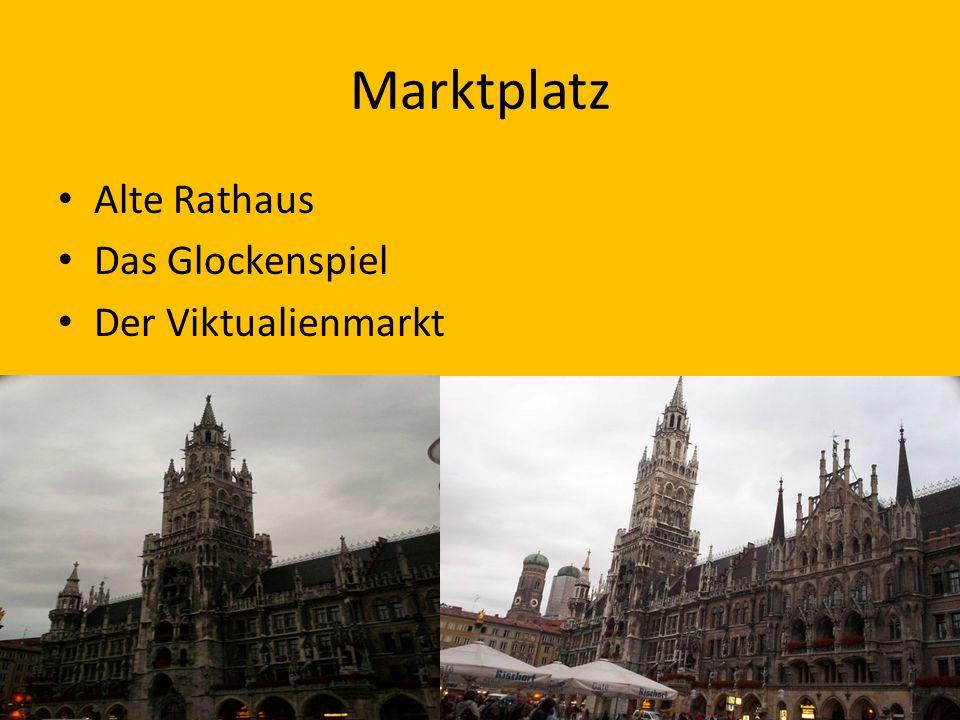 Marktplatz Alte Rathaus Das Glockenspiel Der Viktualienmarkt